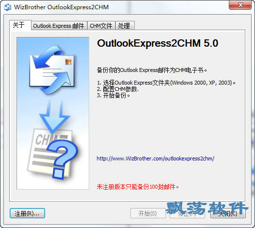 WizBrother OutlookExpress2CHM(OutlookExpress转chm工具)
