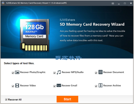 SD卡视频恢照片复软件 IUWEshare SD Memory Card Recovery Wizard