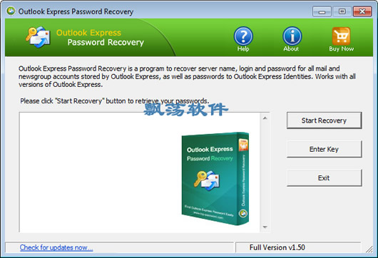 Outlook密码恢复工具 Top Password Outlook Express Password Recovery